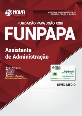 Apostila FUNPAPA-PA - Assistente de Administração