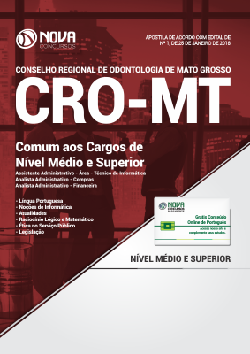 Apostila CRO-MT - Comum aos Cargos de Nível Médio e Superior