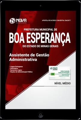 Download Apostila Prefeitura de Boa Esperança - MG PDF - Assistente de Gestão Administrativa
