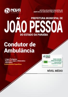 Apostila Prefeitura de João Pessoa - PB - Condutor de Ambulância