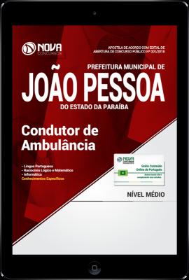 Download Apostila Prefeitura de João Pessoa - PB PDF - Condutor de Ambulância