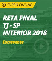 Curso Online Reta Final TJ-SP Interior - Escrevente