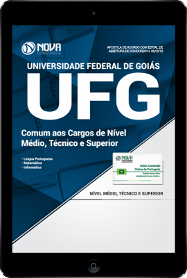 Download Apostila UFG-GO PDF - Comum aos Cargos de Nível Médio, Técnico e Superior