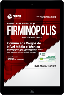 Download Apostila Prefeitura de Firminópolis - GO PDF - Comum aos Cargos de Nível Médio e Técnico