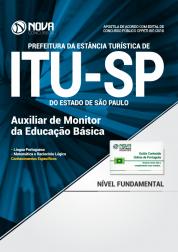 Apostila Prefeitura de Itu - SP - Auxiliar de Monitor da Educação Básica