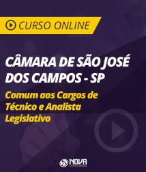 Curso Online Câmara de São José dos Campos - SP - Comum aos Cargos de Técnico e Analista Legislativo