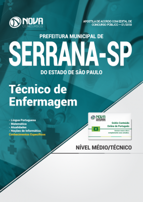 Apostila Prefeitura de Serrana - SP - Técnico de Enfermagem