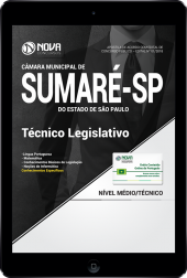 Download Apostila Câmara de Sumaré - SP PDF - Técnico Legislativo