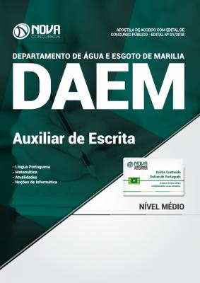 Apostila DAEM - Marília SP - Auxiliar de Escrita