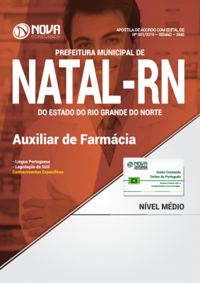 Apostila Prefeitura de Natal - RN (SMS) - Auxiliar de Farmácia