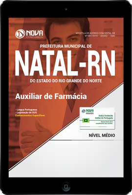 Download Apostila Prefeitura de Natal - RN (SMS) PDF - Auxiliar de Farmácia