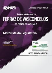 Apostila Câmara de Ferraz de Vasconcelos - SP - Motorista do Legislativo