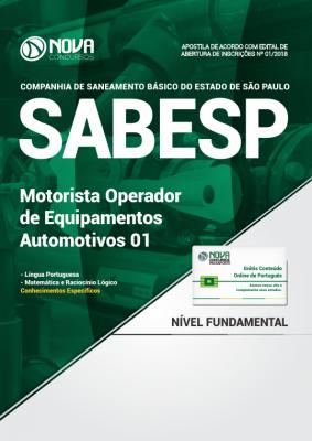 Apostila SABESP - Motorista Operador de Equipamentos Automotivos 01