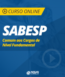 Curso Online SABESP - Comum aos Cargos de Nível Fundamental