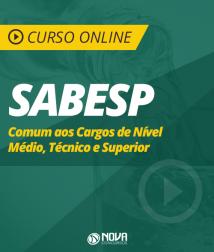 Curso Online SABESP - Comum aos Cargos de Nível Médio, Técnico e Superior
