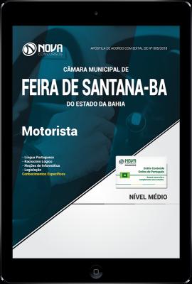 Download Apostila Câmara de Feira de Santana - BA PDF - Motorista