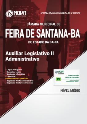 Apostila Câmara de Feira de Santana - BA - Auxiliar Legislativo II - Administrativo