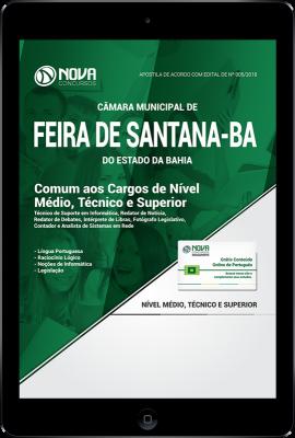 Download Apostila Câmara de Feira de Santana - BA PDF - Comum aos Cargos de Nível Médio, Técnico e Superior