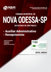 Apostila Câmara de Nova Odessa - SP - Auxiliar Administrativo e Recepcionista