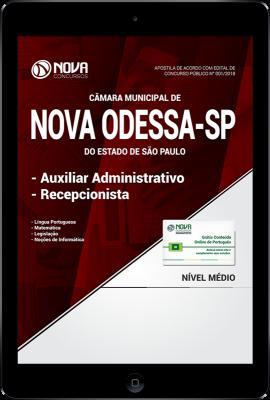 Download Apostila Câmara de Nova Odessa - SP PDF - Auxiliar Administrativo e Recepcionista