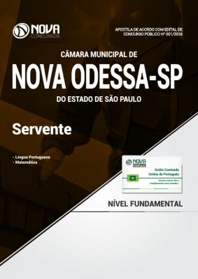 Apostila Câmara de Nova Odessa - SP - Servente