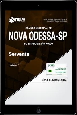 Download Apostila Câmara de Nova Odessa - SP PDF - Servente