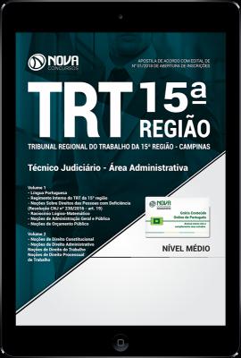 Download Apostila TRT 15ª Região Campinas PDF - Técnico Judiciário - Área Administrativa