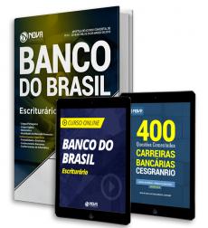 Kit Aprovação Banco do Brasil - Escriturário - Frete Grátis