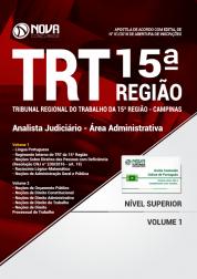 Apostila TRT 15ª Região Campinas - Analista Judiciário - Área Administrativa