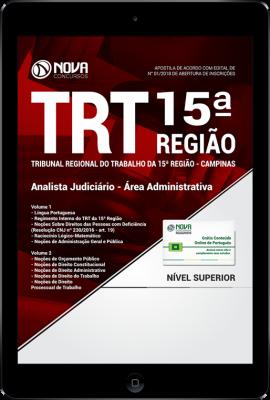 Download Apostila TRT 15ª Região Campinas PDF - Analista Judiciário - Área Administrativa