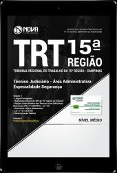 Download Apostila TRT 15ª Região Campinas 2018 - Técnico Judiciário - Área Administrativa - Especialidade Segurança (PDF)