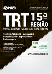 Apostila TRT 15ª Região Campinas - Técnico Judiciário - Área Apoio Especializado - Especialidade Enfermagem