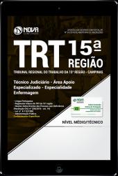 Download Apostila TRT 15ª Região Campinas PDF - Técnico Judiciário - Área Apoio Especializado - Especialidade Enfermagem