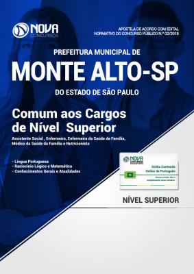 Apostila Prefeitura de Monte Alto - SP - Comum aos Cargos de Nível Superior