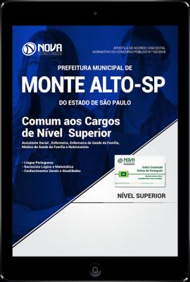 Download Apostila Prefeitura de Monte Alto - SP PDF - Comum aos Cargos de Nível Superior