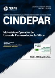 Apostila CINDEPAR - Motorista e Operador de Usina de Pavimentação Asfáltica