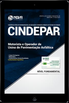Download Apostila CINDEPAR - Motorista e Operador de Usina de Pavimentação Asfáltica (PDF)