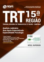 Apostila TRT 15ª Região Campinas - Analista Judiciário - Área Apoio Especializado - Especialidade Psicologia