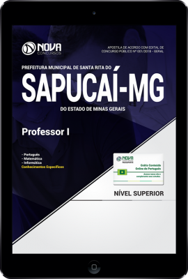Download Apostila Prefeitura de Santa Rita do Sapucaí - MG - Professor I (PDF)