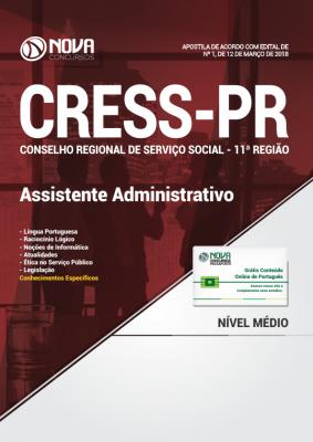 Apostila CRESS - 11ª REGIÃO - PR - Assistente Administrativo