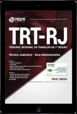 Download Apostila TRT-RJ (1ª Região) - Técnico Judiciário - Área Administrativa (PDF)