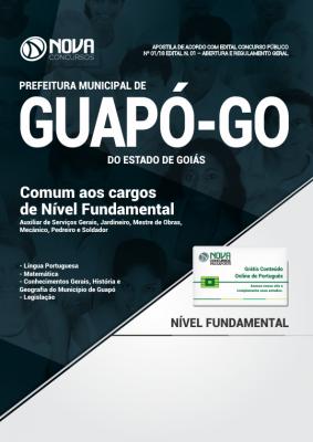 Apostila Prefeitura de Guapó - GO - Comum aos cargos de Nível Fundamental