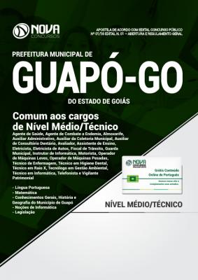 Apostila Prefeitura de Guapó - GO - Comum aos Cargos de Nível Médio/Técnico