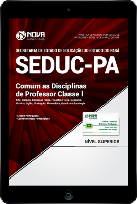 Download Apostila SEDUC-PA - Comum as Disciplinas de Professor Classe I (PDF)