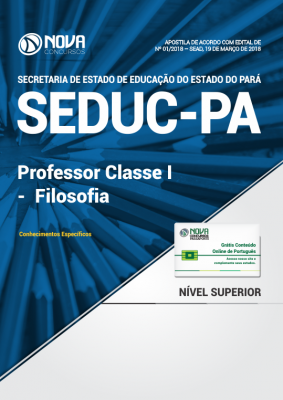 Apostila SEDUC-PA - Professor Classe I - Filosofia