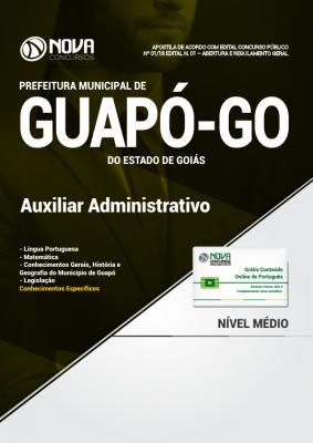 Apostila Prefeitura de Guapó - GO - Auxiliar Administrativo