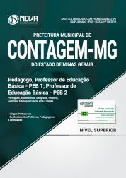 Apostila Prefeitura de Contagem - MG - Pedagogo e Professor de Educação Básica (PEB 1 e PEB 2)