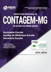 Apostila Prefeitura de Contagem - MG - Assistente Escolar, Auxiliar de Biblioteca e Secretário Escolar