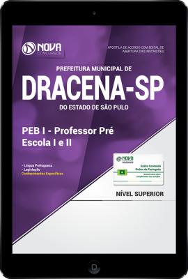 Download Apostila Prefeitura de Dracena - SP 2018 - PEB I - Professor Pré Escola I e II (PDF)