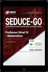 Download Apostila SEDUCE - GO - Professor Nível III - Matemática (PDF)